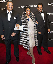 Feb. 8, 2014 - Washington, District Of Columbia, U.S - Queen of Soul and BET Honoree, ARETHA FRANKLIN and WILLIAM WILKERSON and EDWARD FRANKLIN,  at the BET Honors which was held at the historic Warner Theater in Washington D.C. (Credit Image: © Ricky Fitchett/ZUMAPRESS.com)