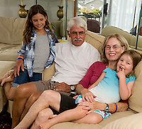 Jim and Nancy Waddell with grand daughters Mills and Ella Waddell.