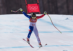 February 17, 2018 - PyeongChang, South Korea -  TIFFANY GAUTHIER of France during Alpine Skiing: Ladies Super-G at Jeongseon Alpine Centre at the 2018 Pyeongchang Winter Olympic Games. (Credit Image: © Patrice Lapointe via ZUMA Wire)