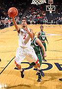 Nov. 15, 2010; Charlottesville, VA, USA; Virginia Cavaliers guard Mustapha Farrakhan (2) drives the lane during the game against the USC Upstate Spartans at the John Paul Jones Arena. Virginia won 74-54. Mandatory Credit: Andrew Shurtleff