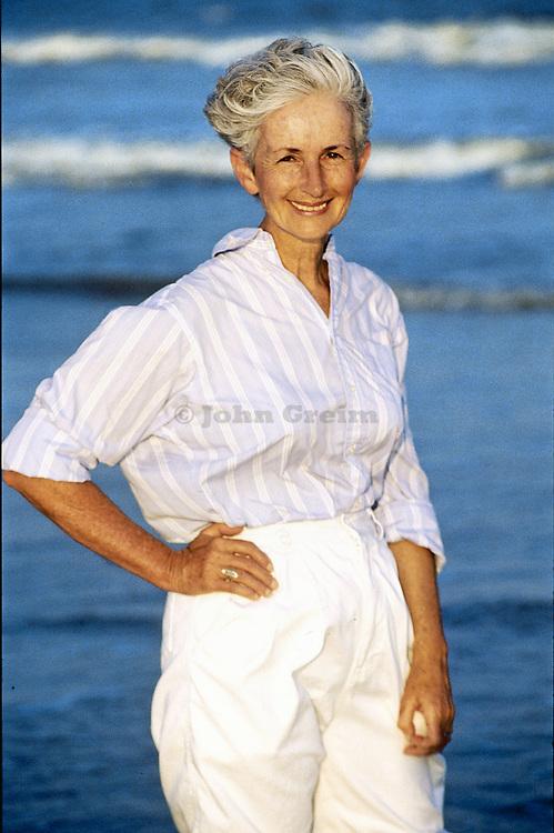Portrait of healthy senior woman.