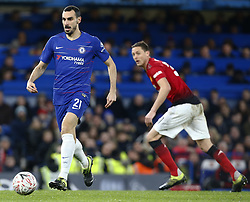 February 18, 2019 - London, United Kingdom - Chelsea's Davide Zappacosta.during FA Cup Fifth Round between Chelsea and Manchester United at Stanford Bridge stadium , London, England on 18 Feb 2019. (Credit Image: © Action Foto Sport/NurPhoto via ZUMA Press)
