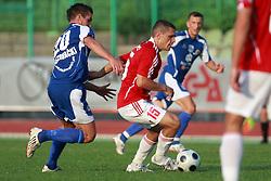 Blaz Brezovacki (20) of Nafta vs Darijan Matic (15) of Interblock at 7th Round of PrvaLiga Telekom Slovenije between NK Interblock vs NK Nafta Lendava, on September , 2008, in ZAK stadium in Ljubljana, Slovenia. Interblock won the match 3:1. (Photo by Vid Ponikvar / Sportal Images)