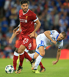 Liverpool's Emre Can (left) and Hoffenheim's Andrej Kramaric battle for the ball
