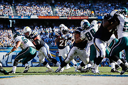 San Diego Chargers running back LaDainian Tomlinson #21 carries the ball for a touchdown during the NFL game between the Philadelphia Eagles and the San Diego Chargers on November 15th 2009. At Qualcomm Stadium in San Diego, California. (Photo By Brian Garfinkel)
