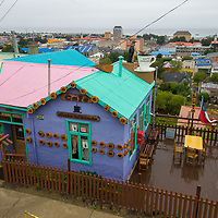 A small cafe above Punta Arenas, Chile, a major port and stopover on the Strait of Magellan.
