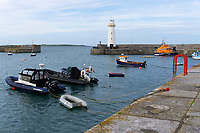 Donaghadee Lifeboat, RNLB Saxon, Harbour , Co Down, N Ireland, UK, July, 2019, 201907101160<br />