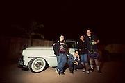 Hipster Bikers at the Hooligan HoeDown - Pioneer Town California.