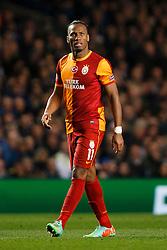 Galatasaray Forward Didier Drogba (CIV) looks on - Photo mandatory by-line: Rogan Thomson/JMP - 18/03/2014 - SPORT - FOOTBALL - Stamford Bridge, London - Chelsea v Galatasaray - UEFA Champions League Round of 16 Second leg.