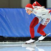 September 18, 2010 - Kearns, Utah - Lana Gehring races in long track speedskating time-trials held at the Utah Olympic Oval.