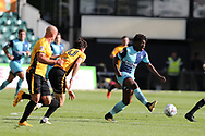 Eberechi Eze of Wycombe makes a break to set up a late attack.   EFL Skybet football league two match, Newport county v Wycombe Wanderers at Rodney Parade in Newport, South Wales on Saturday 9th September 2017.<br /> pic by Andrew Orchard, Andrew Orchard sports photography.