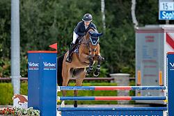 Hinners Sophie, NED, Lucifer JDV<br /> Nationaal Kampioenschap KWPN<br /> 4 jarigen springen final<br /> Stal Tops - Valkenswaard 2020<br /> © Hippo Foto - Dirk Caremans<br /> 19/08/2020