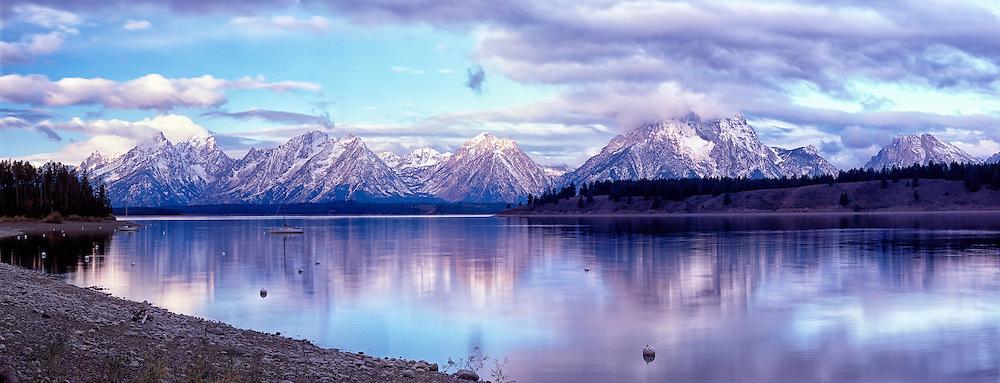 Jackson Lake and the Teton Range, Early Light, Grand Teton National Park
