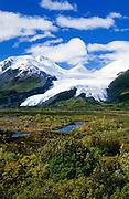 Alaska. Icy fingers of the Worthington Glacier in the Chugach Range.