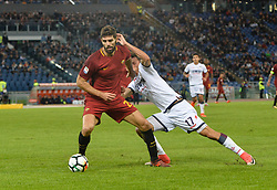 October 25, 2017 - Rome, Italy - Federico Fazio, Ante Budimir during the Italian Serie A football match between A.S. Roma and F.C. Crotone at the Olympic Stadium in Rome, on october 25, 2017. (Credit Image: © Silvia Lore/NurPhoto via ZUMA Press)