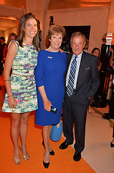 Left to right, EMILY BROOKE winner of the Veuve Clicquot New Generation Award, her mother and step-father LORD & LADY MacLAURIN at the Veuve Clicquot Business Woman Awards held at Claridge's, Brook Street, London on 11th May 2015.