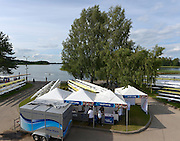 Trackai. LITHUANIA. World Rowing,  Merchandise/ retail in the general boating and boat storage area.   2012 FISA U23 World Rowing Championships,   17:47:20 {dow], {date} [Mandatory Credit: Peter Spurrier/Intersport Images]..Rowing. 2012. U23.