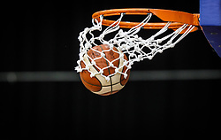 Basketball Ball in a basket, August 2021 in Debrecen, Hungary, Slovenia. Photo by Vid Ponikvar / Sportida
