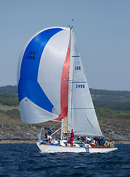 Sailing - SCOTLAND  - 25th May 2018<br /> <br /> 3rd days racing the Scottish Series 2018, organised by the  Clyde Cruising Club, with racing on Loch Fyne from 25th-28th May 2018<br /> <br /> GBR2496, Valhalla of Ashton , Alan Dunnet , CCC , Swan 36<br /> <br /> <br /> Credit : Marc Turner<br /> <br /> Event is supported by Helly Hansen, Luddon, Silvers Marine, Tunnocks, Hempel and Argyll & Bute Council along with Bowmore, The Botanist and The Botanist