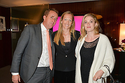 Left to right, NED BARING, EMILY CROMPTON-CANDY and LAURA MARSH at a private screening of The Anonymous People in aid of Action on Addiction held at The Bulgari Hotel, 171 Knightsbridge, London on 20th May 2015.