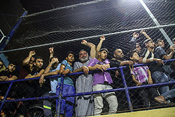 May 24, 2019 - Jabalia, Gaza Strip. 25 May 2019. The final match of the Burir Al-Ramadania village championship takes place at the Jabalia youth club stadium in the Jabalia refugee camp in the Gaza Strip. The Mansour family team won 3-2 against the Abu Halab family team through the penalty shootout at the end of the match (Credit Image: © Ahmad Hasaballah/IMAGESLIVE via ZUMA Wire)