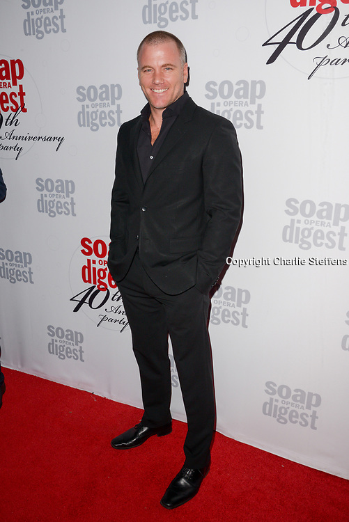 SEAN CARRIGAN at Soap Opera Digest's 40th Anniversary party at The Argyle Hollywood in Los Angeles, California