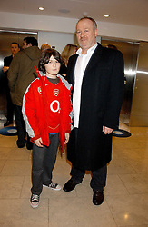 VINCE POWER and his son NIALL POWER at a party hosted by O2 to announce their support for grassroots music through the launch of a nationwide music talent search 'O2 Undiscovered' held at The Hospital, Endell Street, London on 8th March 2006.<br /><br />NON EXCLUSIVE - WORLD RIGHTS
