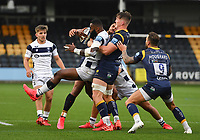 Rugby Union - 2019 / 2020 Gallagher Premiership - Worcester Warriors vs Bristol Bears<br /> <br /> Bristol Bears' Semi Radradra is tackled by Worcester Warriors' Ted Hill, at Sixways.<br /> <br /> COLORSPORT/ASHLEY WESTERN