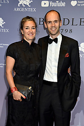 Balthazar Fabricius with his wife at the Boodles Boxing Ball, in association with Argentex and YouTube in Support of Hope and Homes for Children at Old Billingsgate London, United Kingdom - 7 Jun 2019 Photo Dominic O'Neil