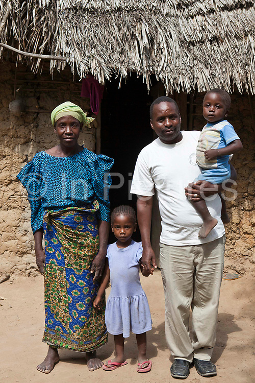 A family whose children are supported by Wema to go to the Mari Mani School Nr Mombassa, Kenya. Wema is a NGO organisation in Kenya that provides rehabilitation programs for street children; poor, disadvantaged youth; and, orphaned and vulnerable children affected by poverty.