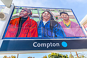 Mural at Compton Blue Line Station