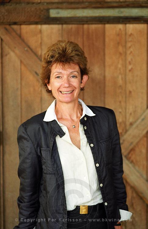 Madame Martine Cazeneuve owner and wine maker Chateau Paloumey Haut Medoc Ludon Medoc Bordeaux Gironde Aquitaine France Europe