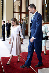 King Felipe VI of Spain and Queen Letizia bid farewell to Queen Elizabeth II and the Duke of Edinburgh at Buckingham Palace, on the final day of the King's State Visit to the UK.