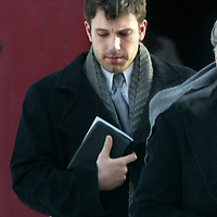 Ben Affleck leaves a Brookline,MA church funeral after  the funeral for his grandmother. Photo by Mark Garfinkel