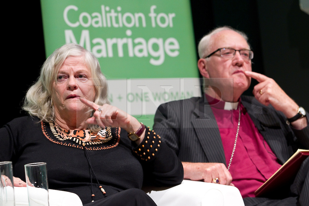 © Licensed to London News Pictures. 08/10/2012. Birmingham , UK . L-R Ann Widdecombe , George Carey . Birmingham Town Hall meeting of The Coalition for Marriage , who are opposed to giving marriage rights to gay people . Photo credit : Joel Goodman/LNP