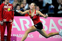 06-02-2011 TENNIS: FEDCUP BELGIUM - USA: ANTWERPEN<br /> Belgian Yanina Wickmayer<br /> **NETHERLANDS ONLY**<br /> ©2011-WWW.FOTOHOOGENDOORN.NL/NPH-LAURENT DUBRULE