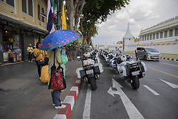 Security Cord Around The Royal Palace. Coronation of the King of Thailand, Rama X, His Majesty King Maha Vajiralongkorn Bodindradebayavarangkun, n Bangkok, Thailand, on May 04, 2019. Photo by Loic Baratoux /ABACAPRESS.COM