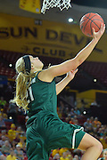 March 18, 2016; Tempe, Ariz;  Green Bay Phoenix guard/forward Jessica Lindstrom (21) gets a layup during a game between No. 7 Tennessee Lady Volunteers and No. 10 Green Bay Phoenix in the first round of the 2016 NCAA Division I Women's Basketball Championship in Tempe, Ariz.