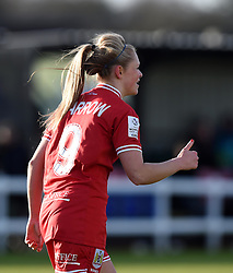 Millie Farrow of Bristol City Women gives a thumbs-up to the bench - Mandatory by-line: Paul Knight/JMP - Mobile: 07966 386802 - 14/02/2016 -  FOOTBALL - Stoke Gifford Stadium - Bristol, England -  Bristol Academy Women v QPR Ladies - FA Cup third round