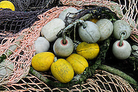 Fishing Net and Floats in Wrangell Alaska. Image taken with a Nikon D300 camera.