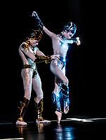 Edward Watson and Olga Smirnova at the McGREGOR + MUGLER photocall at the London Coliseum  in advance of the world premiere  London UK - 05 Dec 2019