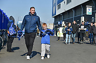 Portsmouth fans arrive at Fratton Park during the EFL Sky Bet League 1 match between Portsmouth and Blackpool at Fratton Park, Portsmouth, England on 24 February 2018. Picture by Adam Rivers.