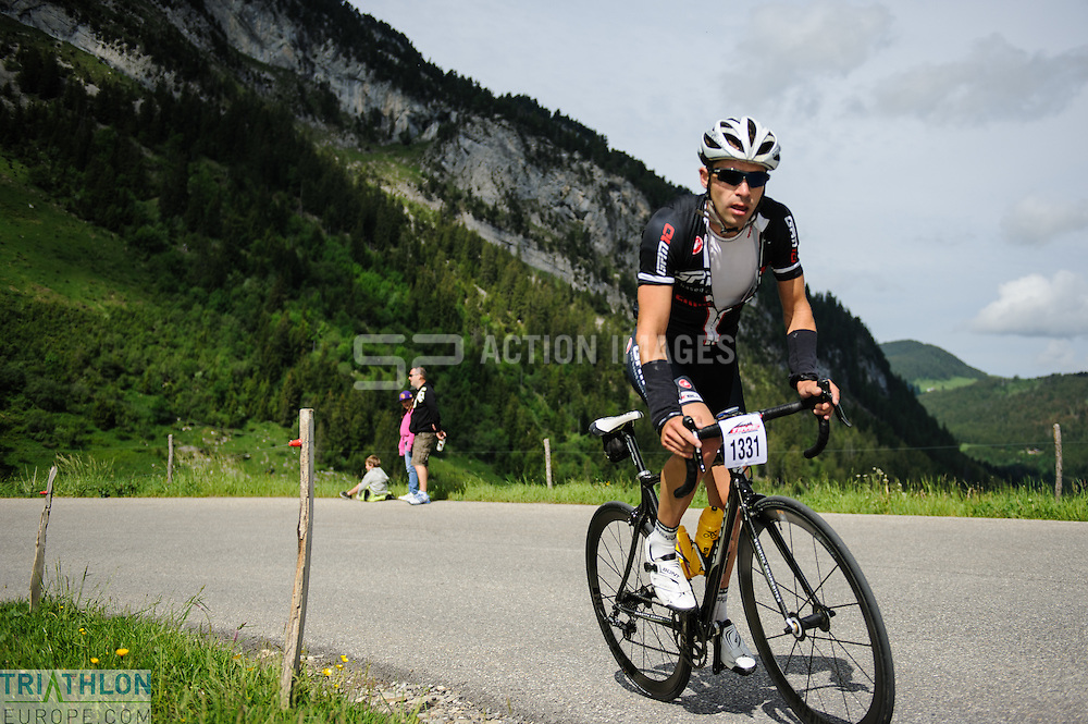 Participants in the Time Megeve Sportive on the 10th June 2012. Photo by Simon Parker/SPactionimages