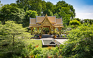 Thai Pavilion and Garden at the Olbrich Botanical Gardens,  16 acres of outdoor display gardens and an indoor, tropical conservatory. Olbrich's Thai Pavilion, as described on the Olbrich website, is the only one in the continental United States and the only one outside of Thailand surrounded by a garden.