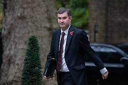 © Licensed to London News Pictures. 06/11/2018. London, UK. Justice Secretary David Gauke arriving in Downing Street to attend a Cabinet meeting this morning. Photo credit : Tom Nicholson/LNP