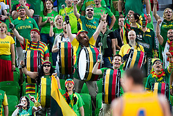 Fans of Lithuania during basketball match between national team of Ukraine and Lithuania of Eurobasket 2013 on September 15, 2013 in SRC Stozice, Ljubljana, Slovenia. (Photo By Matic Klansek Velej / Sportida.com)