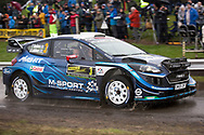 Teemu Suninen(FIN)and Co/Driver Jarmo Lehtinen(FIN)Ford Fiesta WRCduring the Wales Rally GB at Oulton Park, Budworth, Cheshire, United Kingdom on 3 October 2019.
