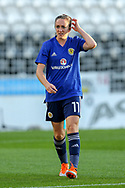 Lisa Evans (#11) of Scotland ahead of the 2019 FIFA Women's World Cup UEFA Qualifier match between Scotland Women and Switzerland at the Simple Digital Arena, St Mirren, Scotland on 30 August 2018.