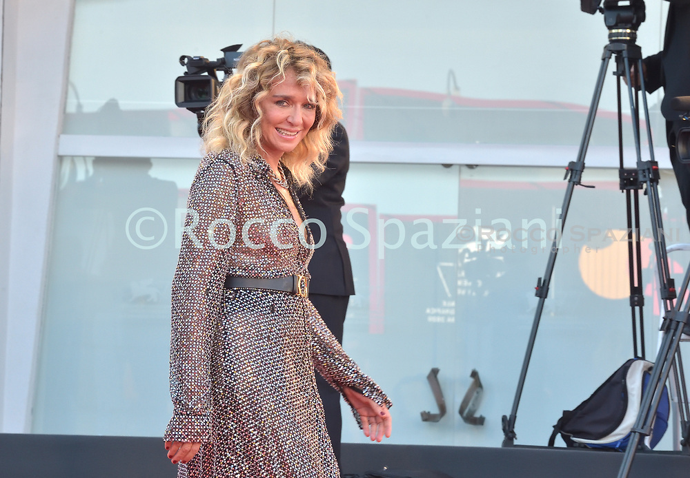 VENICE, ITALY - SEPTEMBER 12:Valeria Golino walk the red carpet ahead of closing ceremony at the 77th Venice Film Festival on September 12, 2020 in Venice, Italy.<br /> (Photo by Rocco Spaziani)