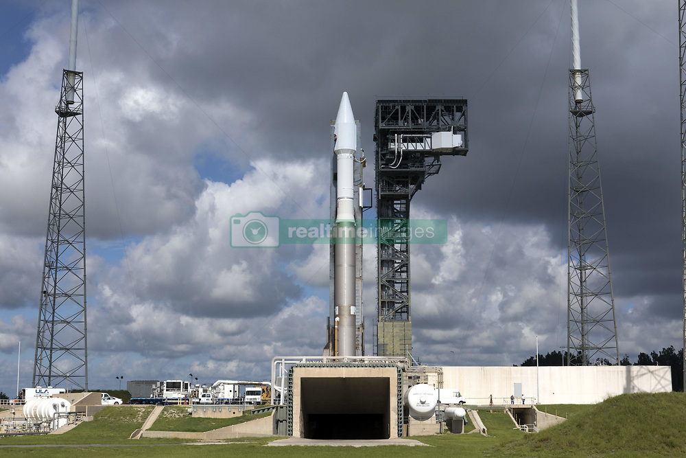 August 16, 2017 - Cape Canaveral, FL, United States of America - The United Launch Alliance Atlas V rocket is positions at Space Launch Complex 41 at Cape Canaveral Air Force Station August 16, 2017 in Cape Canaveral, Florida. The commercial rocket scheduled to send NASA's Tracking and Data Relay Satellite, TDRS-M to orbit on August 18th. (Credit Image: © Kim Shiflett/Planet Pix via ZUMA Wire)